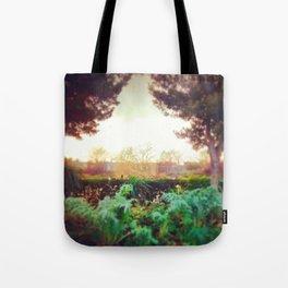 Instagram Summer Garden Irish Landscape Green and Amber Photography Print Tote Bag