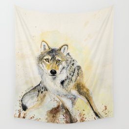 Totem Wolf: Gray wolf (c) 2017 Wall Tapestry