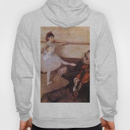 The Dance Lesson 1879 By Edgar Degas | Reproduction | Famous French Painter Hoody