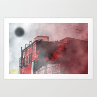 silent hill Art Prints featuring Silent Hill by Nowherephotography