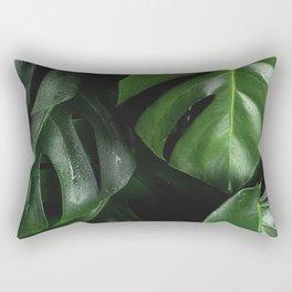 Monstera Plant Rectangular Pillow
