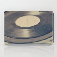vinyl iPad Cases featuring Vinyl  by Caroline Mint