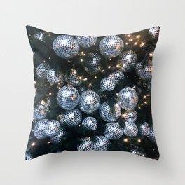 Silver Balls Throw Pillow