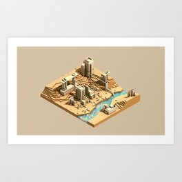 Site Plan Art Print