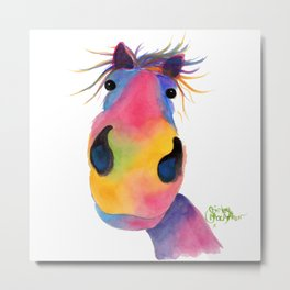 Happy Horse ' PeNeLOPE PiMMs ' by Shirley MacArthur Metal Print