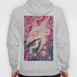 Glitterwolf Acrylic Painting Hoody