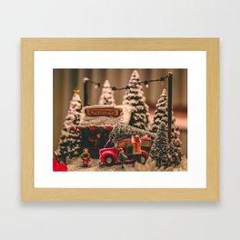 Tiny Christmas Town (Color) Framed Art Print