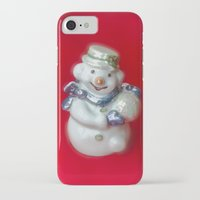 snowman iPhone & iPod Cases featuring Snowman  by Svetlana Korneliuk