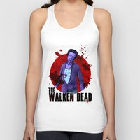 christopher walken Tank Tops featuring The Walken Dead – The Walking Dead Parody – Christopher Walken Zombie by ptelling