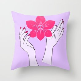 Holy orchid Throw Pillow