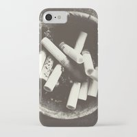 cigarettes iPhone & iPod Cases featuring cigarettes by Sushibird