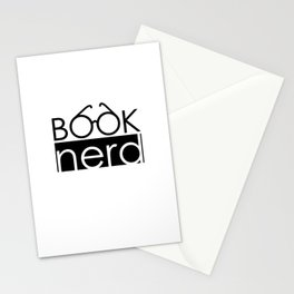 Book Nerd Logo Glasses  Stationery Cards