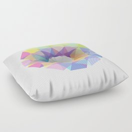 Fig. 036 Colorful Circle Floor Pillow