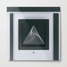 Triangular_CLEAN Metal Print