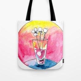 Glass vase Tote Bag