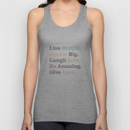 Inspiration Typography Quote Words Pastel  Unisex Tank Top