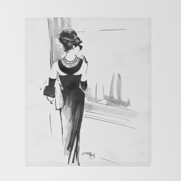 Breakfast at Tiffany's Sketch Throw Blanket