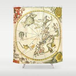 """Albrecht Dürer """"Celestial map of the Southern sky"""" Shower Curtain"""