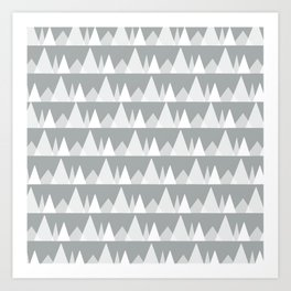 Scandinavian Trees | Ultimate Gray Art Print