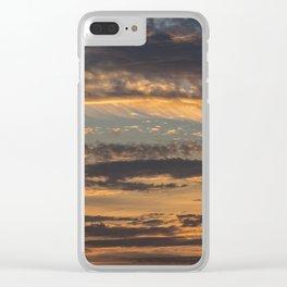 Pastel Sunset pt.4 Clear iPhone Case