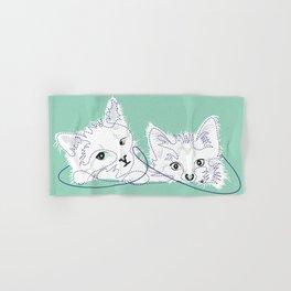 mint kittens 01 Hand & Bath Towel
