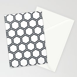 Hexagon White Stationery Cards