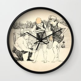 Swimsuit Police Wall Clock