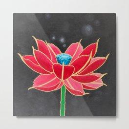 Diamond Mech Lotus Metal Print