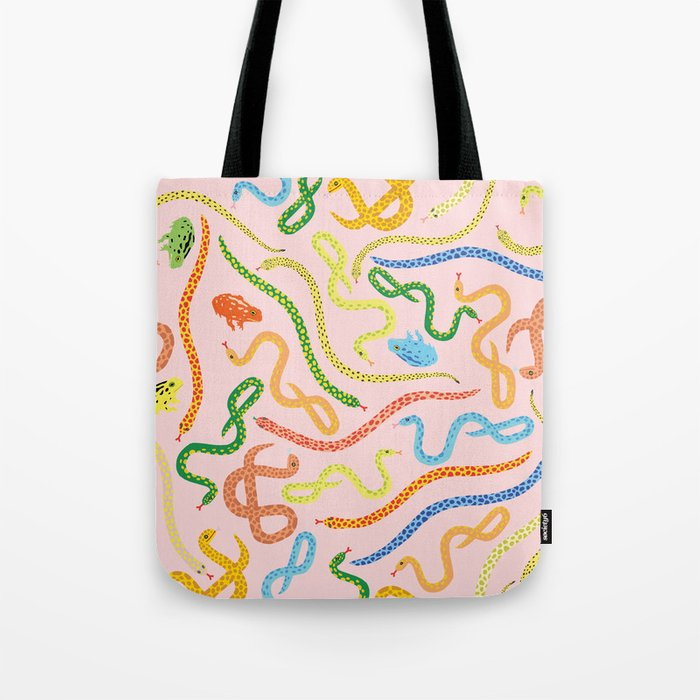 Snakes and Frogs Tote Bag