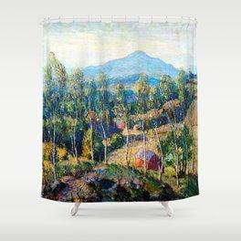 Ernest Lawson New England Birches Shower Curtain
