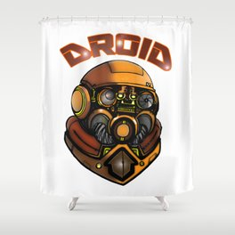 DROID77 Shower Curtain