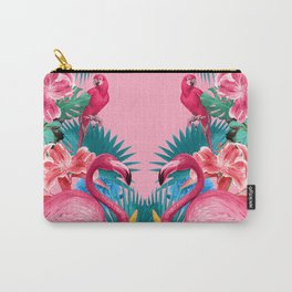 Flamingo and Tropical garden Carry-All Pouch