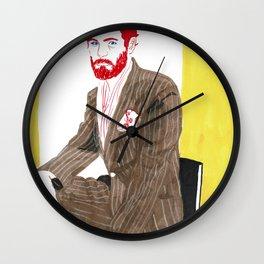 Brown Suit Wall Clock