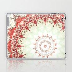 Autumn's Splendor Mandala -- Russet Red Leaves on Pale Mint Laptop & iPad Skin
