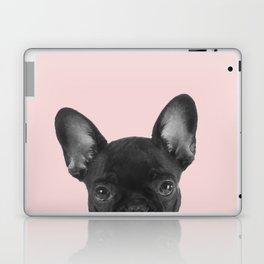 Blush pink Frenchie pop Laptop & iPad Skin