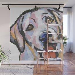 Yellow Lab Labrador Retriever Dog Portrait Pop Art painting by Lea Wall Mural