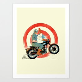 Cap Ride. Art Print