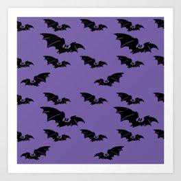 Batty purple Art Print