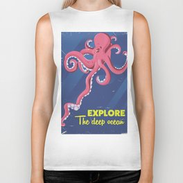 Explore the Deep Ocean Biker Tank