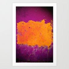 orange & purple Art Print