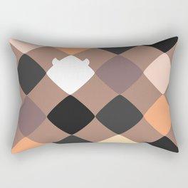 Mocha touch of Geometric Rebelion Rectangular Pillow