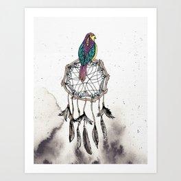 Birdie Dreams Art Print
