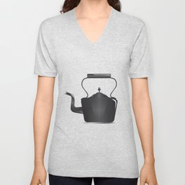 Victorian Black Kettle Unisex V-Neck