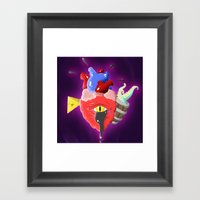Cursed Heart Framed Art Print