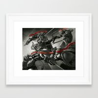 tmnt Framed Art Prints featuring TMNT by kcspaghetti