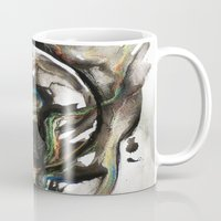 erotic Mugs featuring Erotic Electronic Moon   by Pérola M. Bonfanti