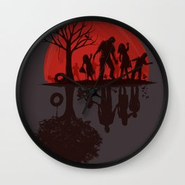 A Family Once (dark version) Wall Clock