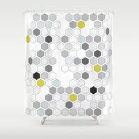 diamonds Shower Curtains featuring Diamonds by Mimmi Wide