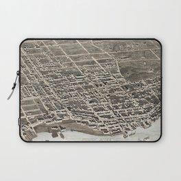 Vintage Pictorial Map of Newburgh New York (1875) Laptop Sleeve