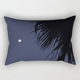 Palm Tree and the Moon Rectangular Pillow